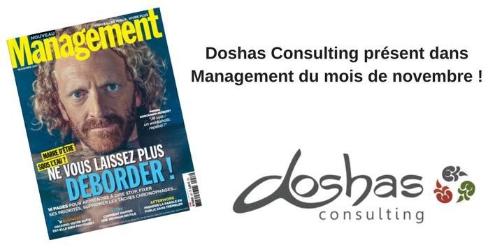 Doshas Consulting « partenaire stratégique du système de santé », pour le magazine Management